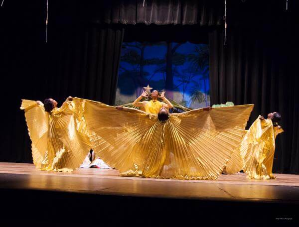 A Guyanese Dance Group Performed Praise Dance using AQY Angel Wings