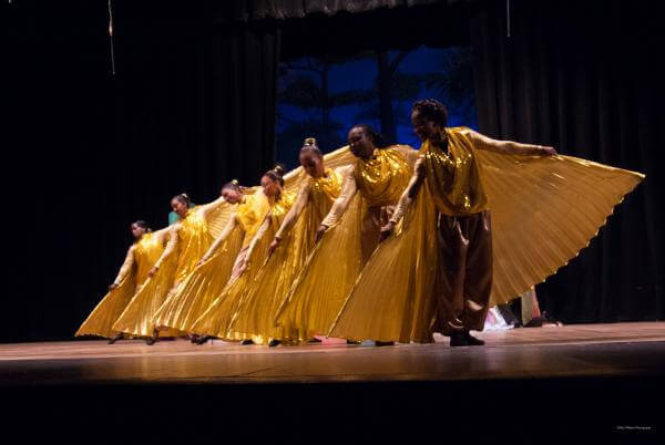 A Guyanese Dance Group Performed Praise Dance with AQY Angel Wings