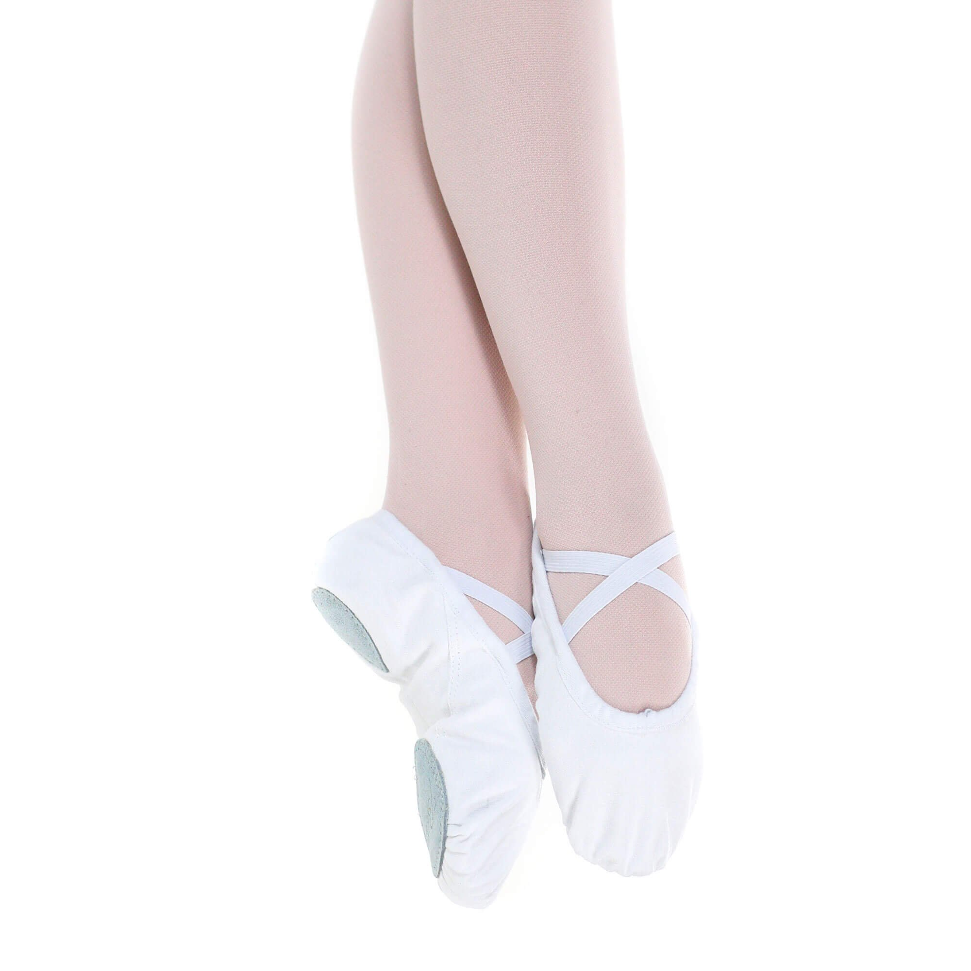 Baiwu Girl's Canvas Split Sole Dance Slipper