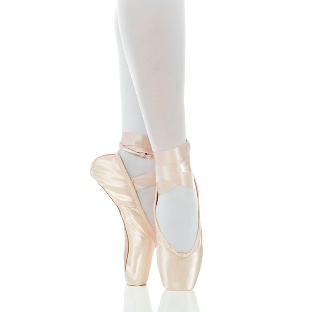 Baiwu Satin Ballet Pointe Shoes With Ribbon