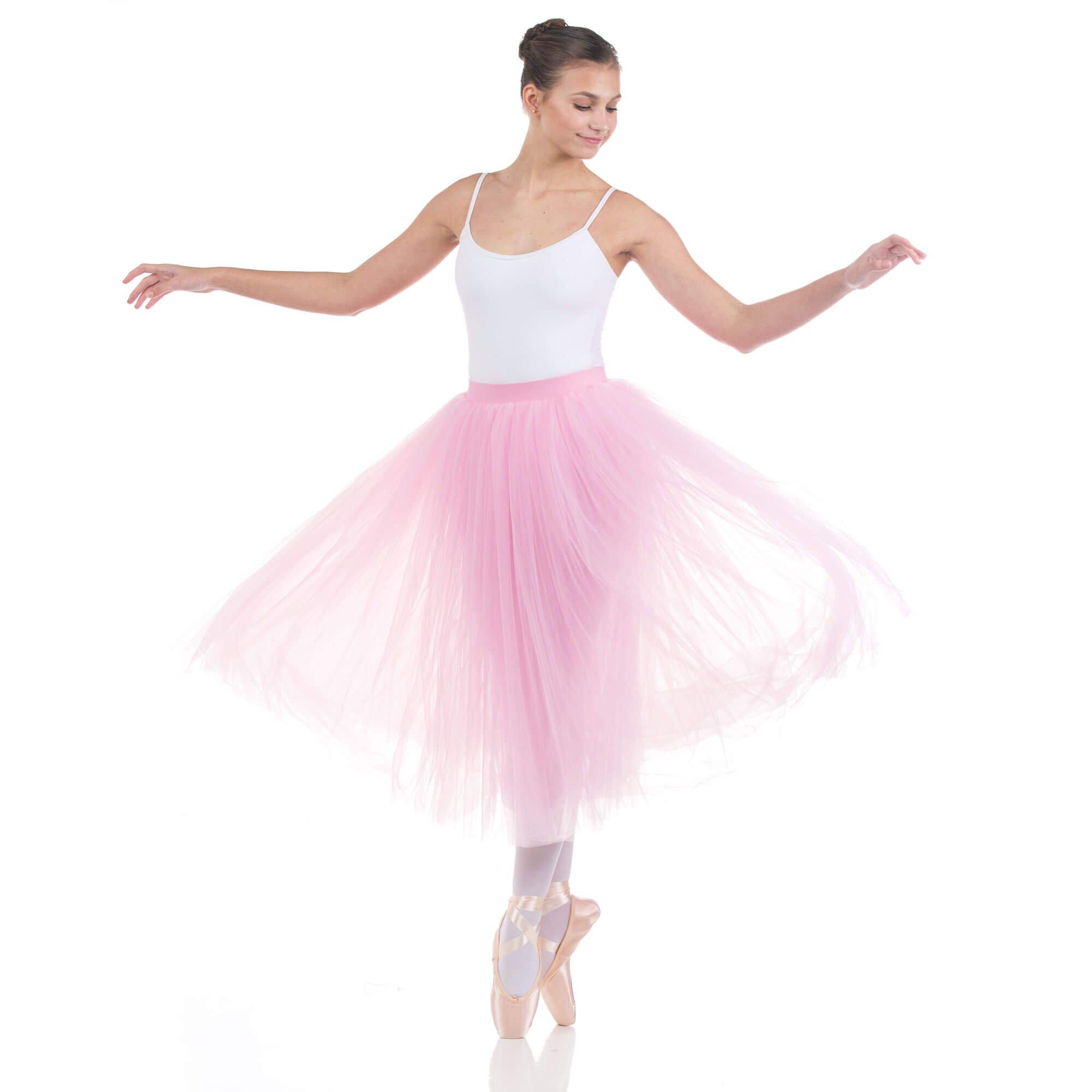 baiwu women's ballet long performance tutu skirt