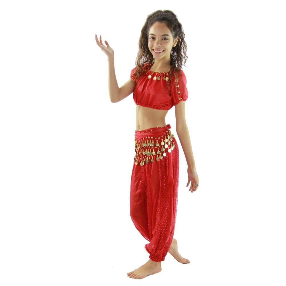 Bollywood Little Lantern 5,Piece Children Belly Dance Costume