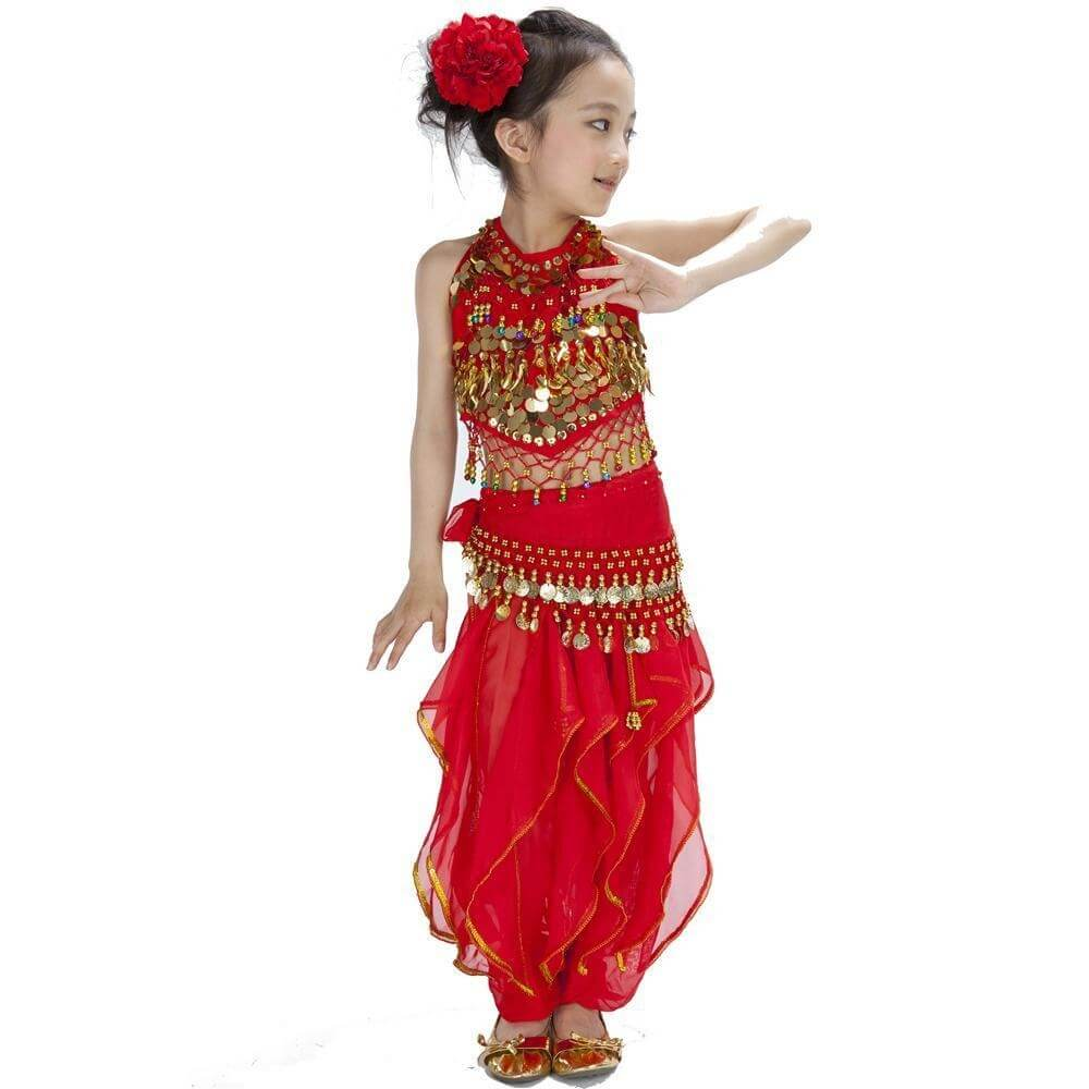 66ccc81ee0d9e3 Bollywood Pepper 5-piece Children Belly Dance Costume