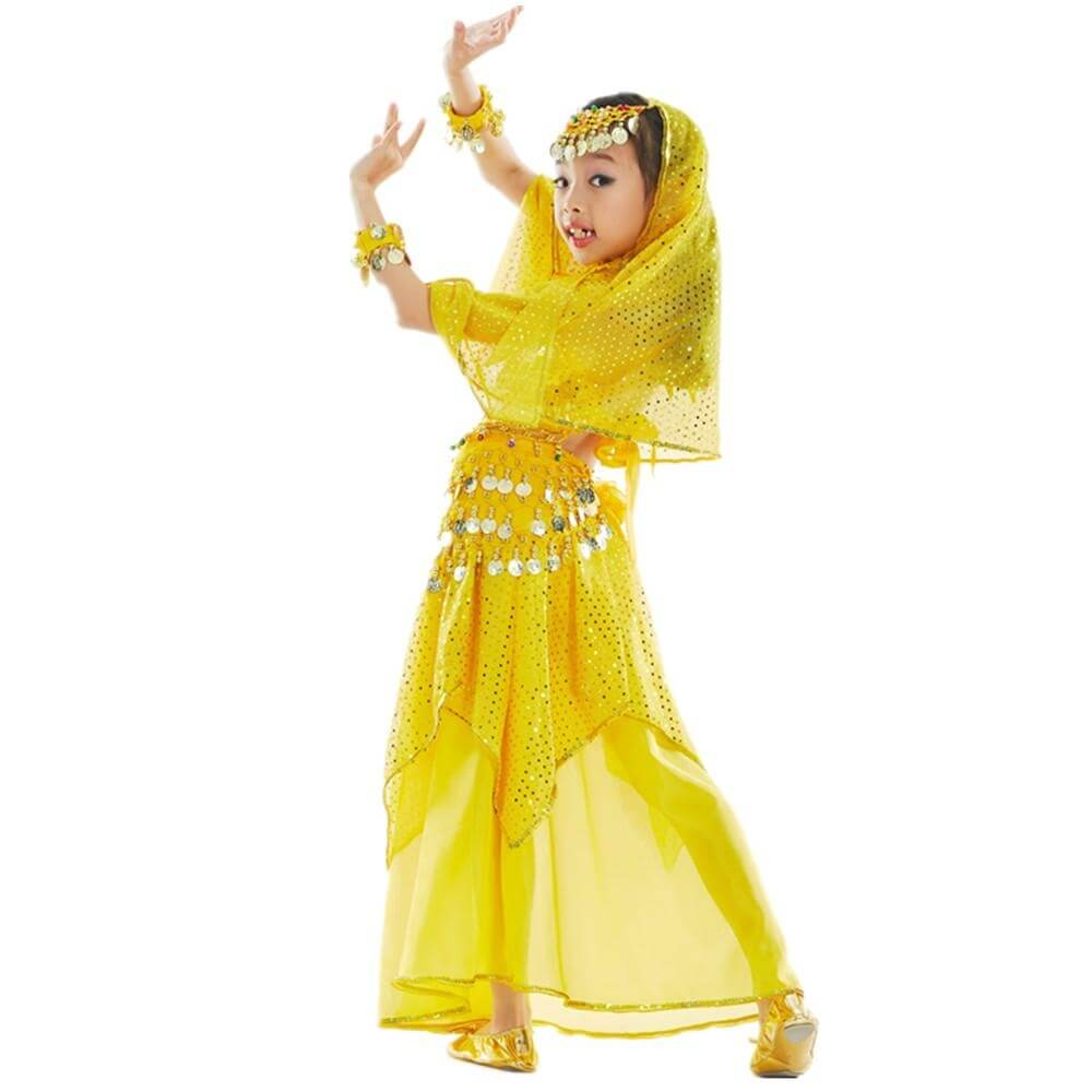 Bollywood Little Chili 5-piece Children Belly Dance Costume - Click Image to Close