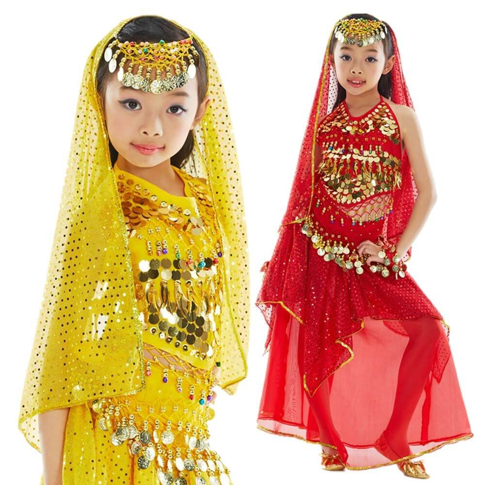 Bollywood Little Chili 5-piece Children Belly Dance Costume