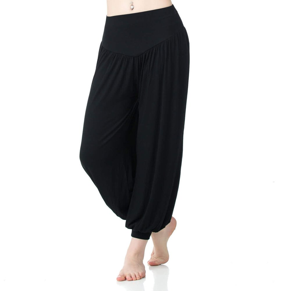 Danzcue Women's Soft Belly Dance Yoga Sports Harem Pants