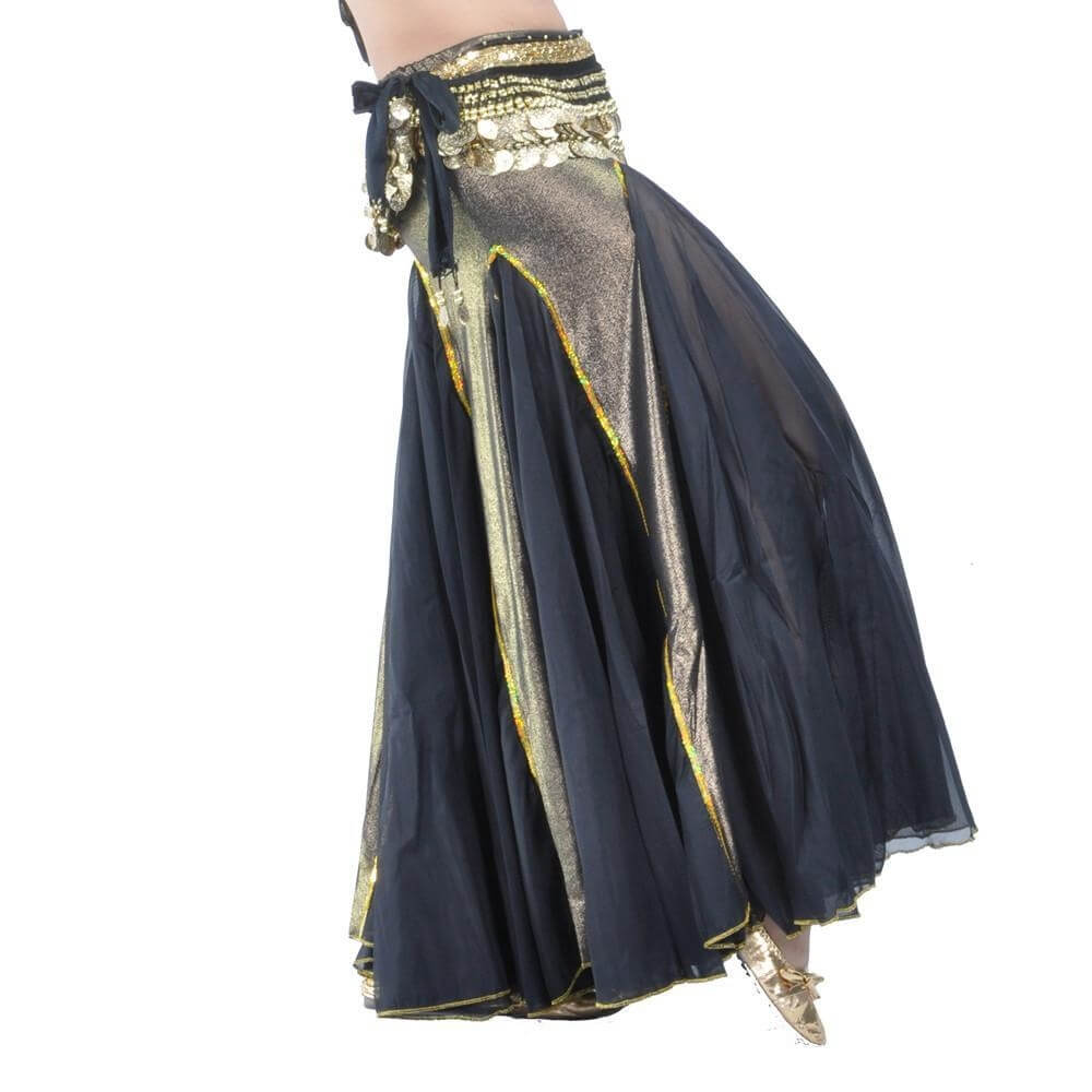 Black Fashion Mermaid Belly Dance Skirt