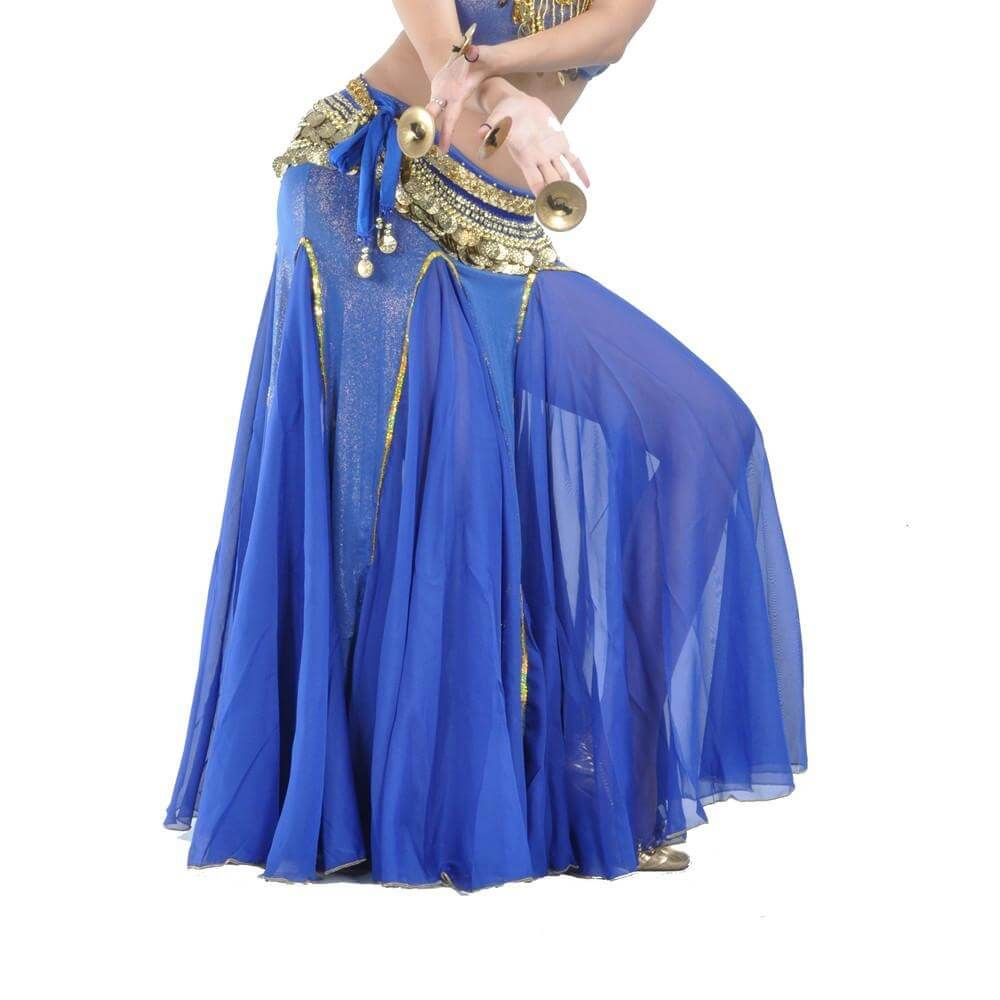 Bright Royal Fashion Mermaid Belly Dance Skirt