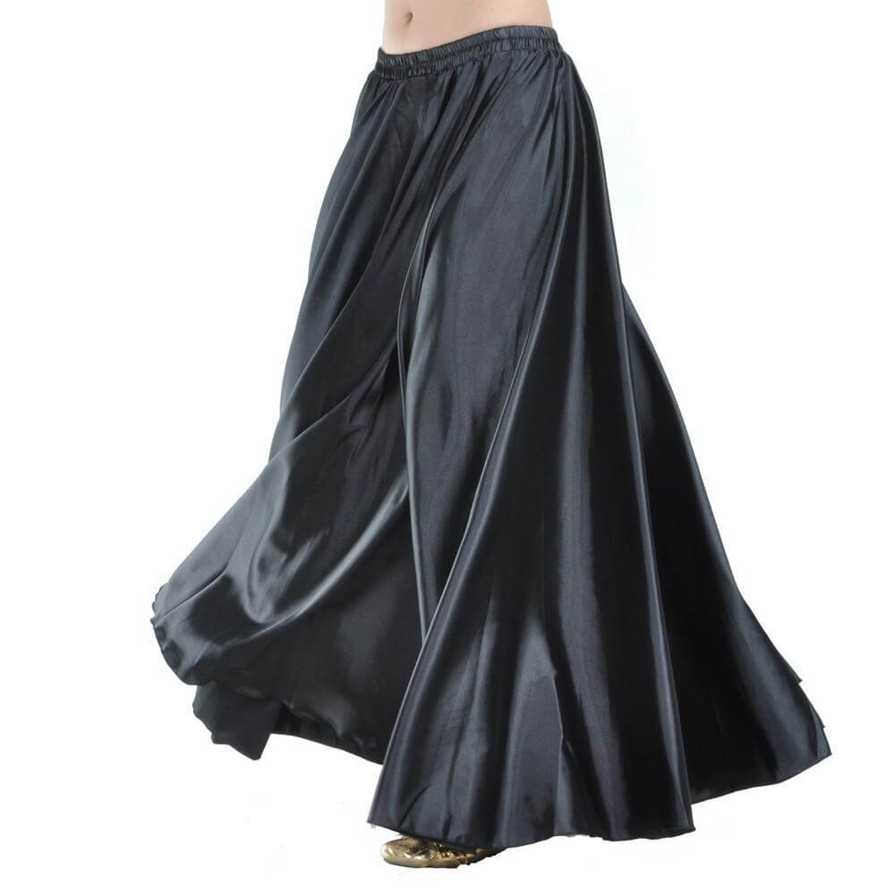 Black Fashion Satin Skirt Praise Dance Skirt Belly Dance Skirt