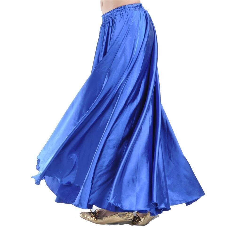 Blue Fashion Large Satin Skirt Belly Dance Skirt