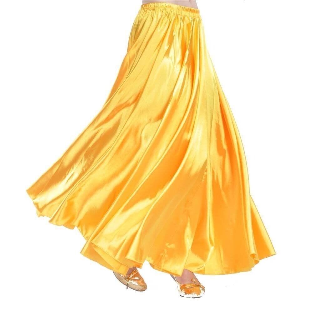Fashion Large Satin Skirt Belly Dance Skirt