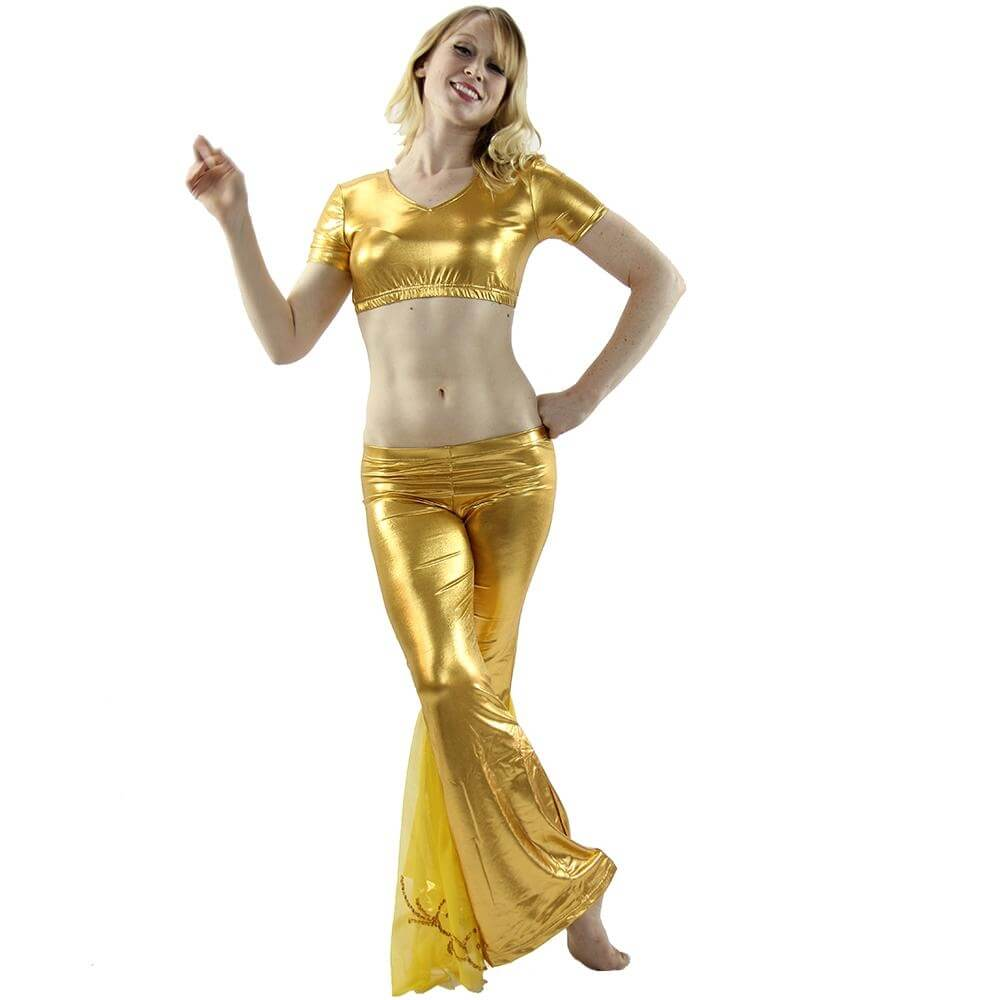 Jazz style 2-Piece Belly Dance Costume