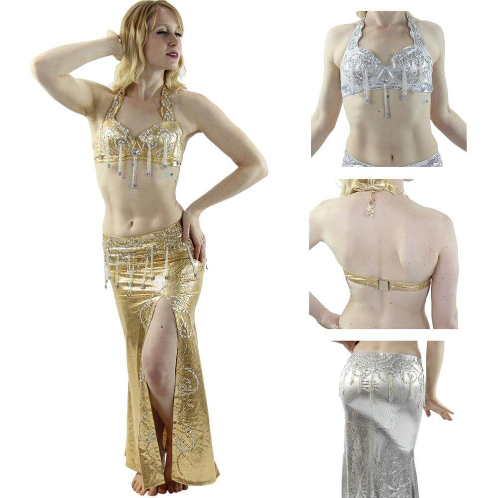 Egyptian style 2-Piece Belly Dance Costume