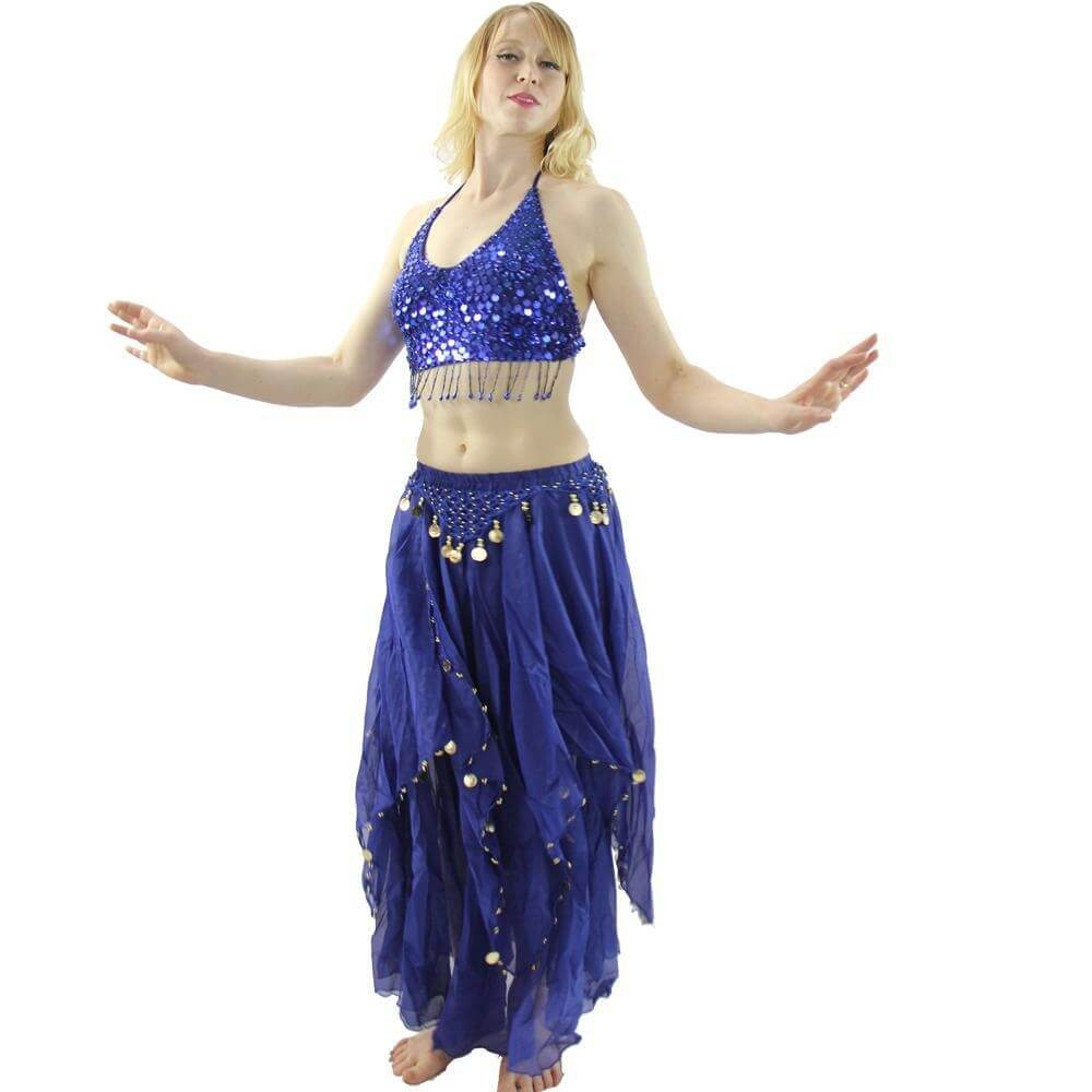 five flowers 2piece belly dance costume belst026 danzcue