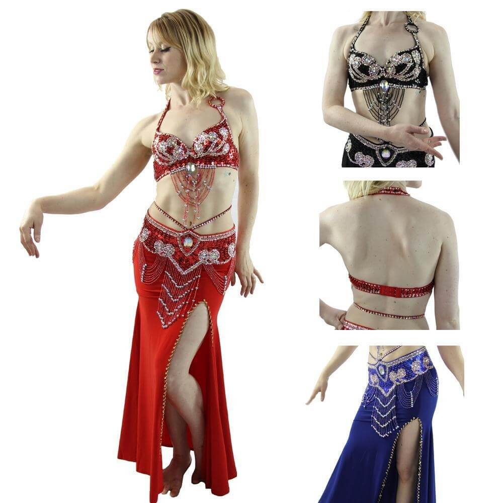 Egyptian Style 3-Piece Belly Dance Costume
