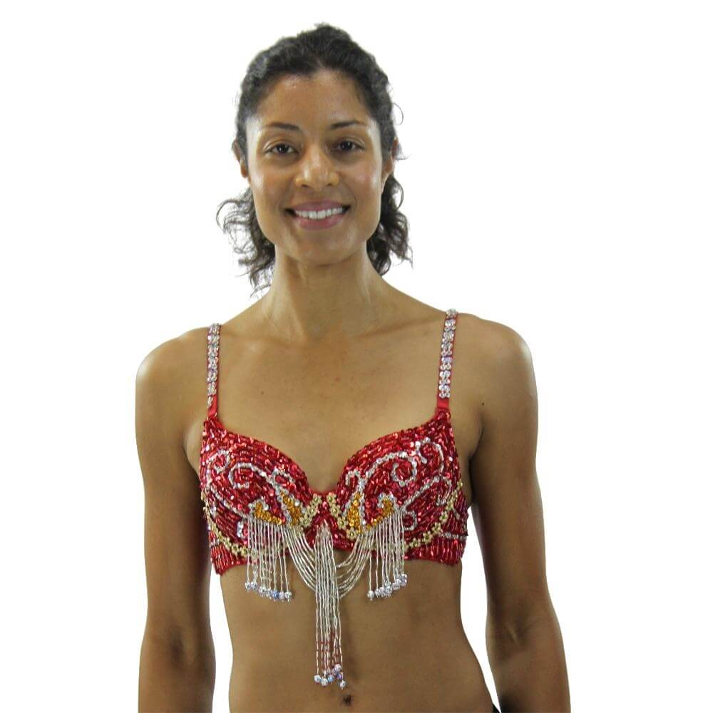 Fashion Colourful Bead Belly Dance Bra