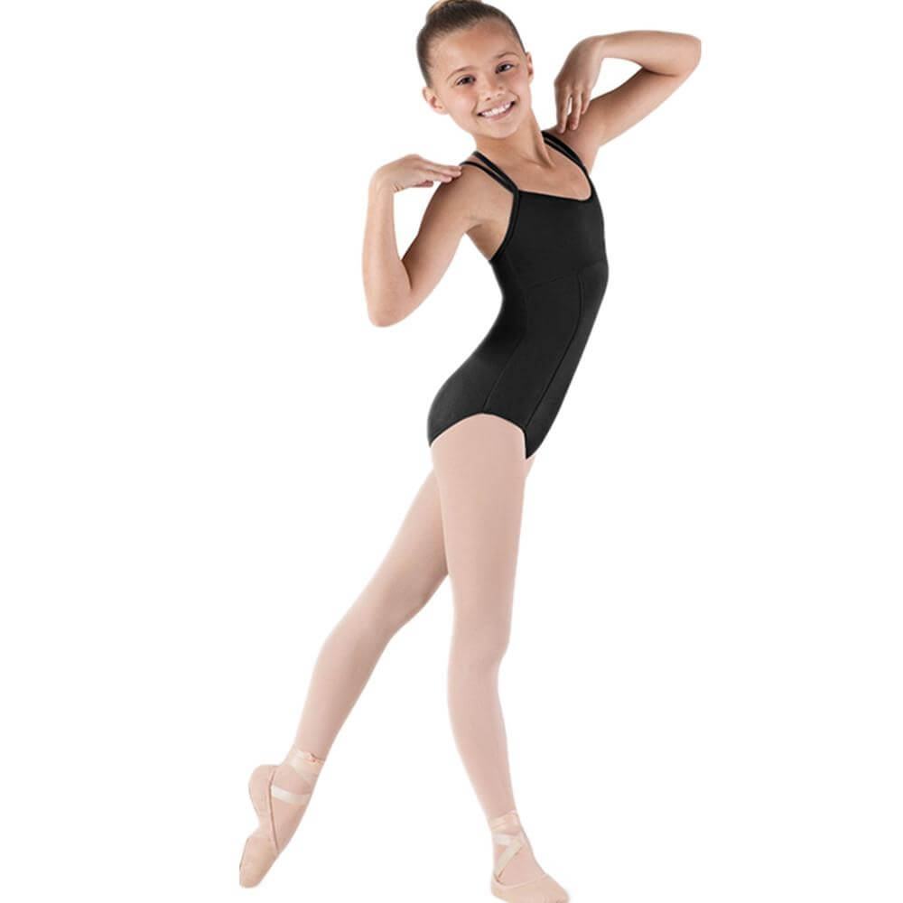 Bloch Girls Couru Seamed Double Strap Camisole Leotard