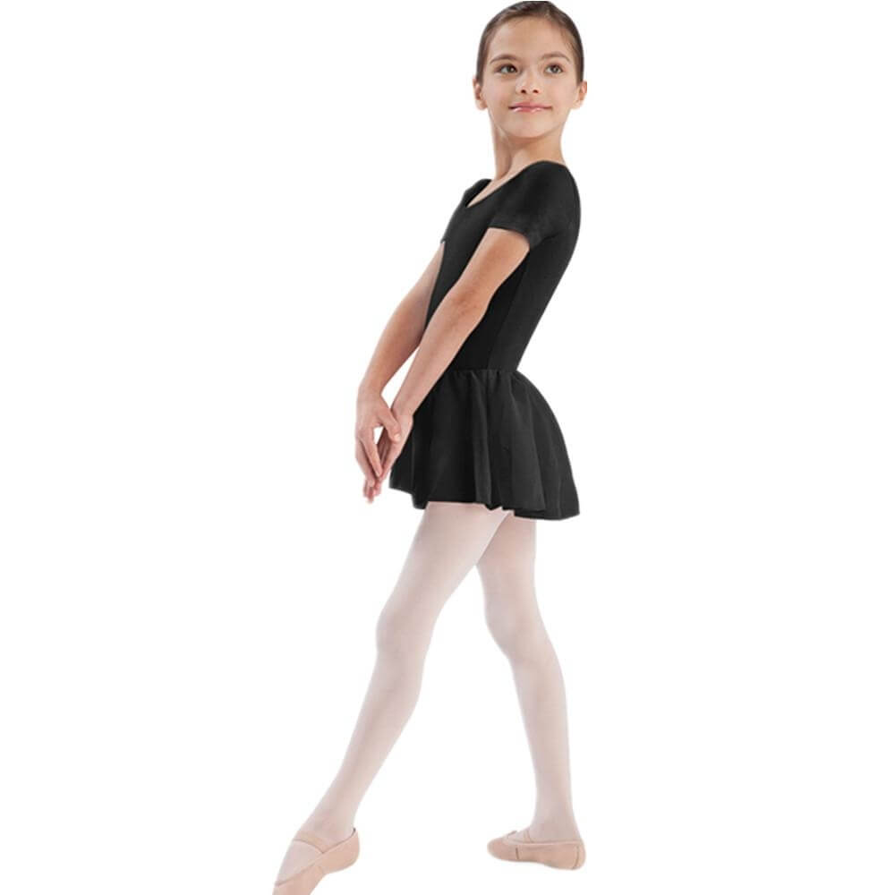 Bloch Girls Short Sleeve Skirted Leotard