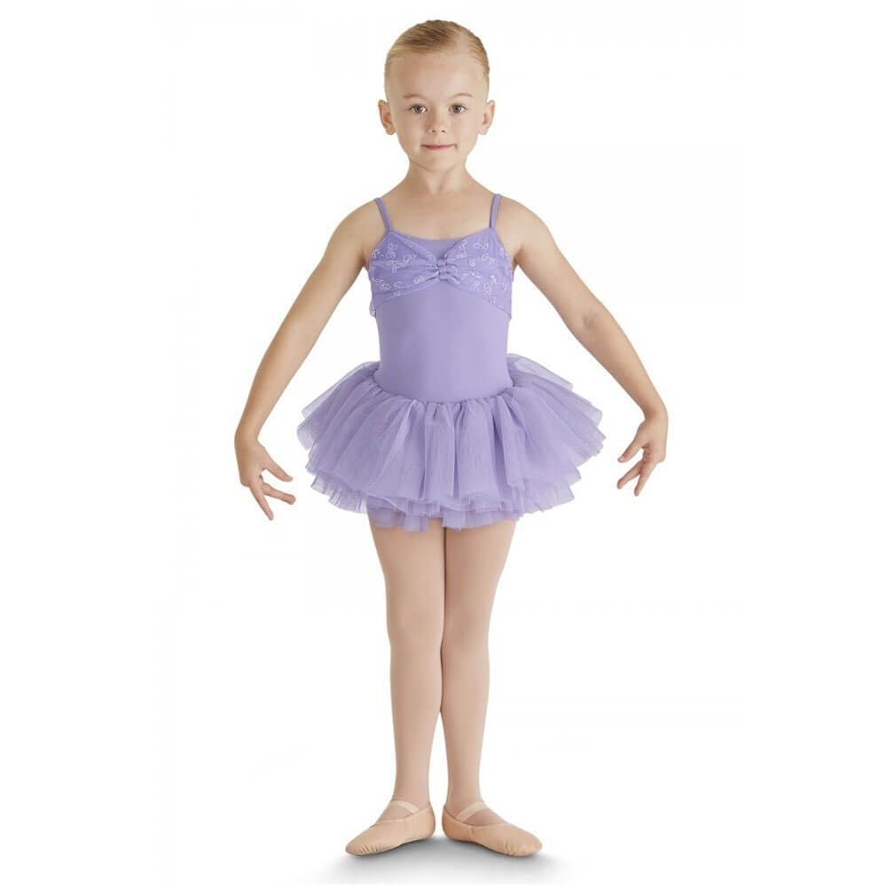 Bloch Child Brigid Glitter Bow Tulle Bow Front Camisole Leotard
