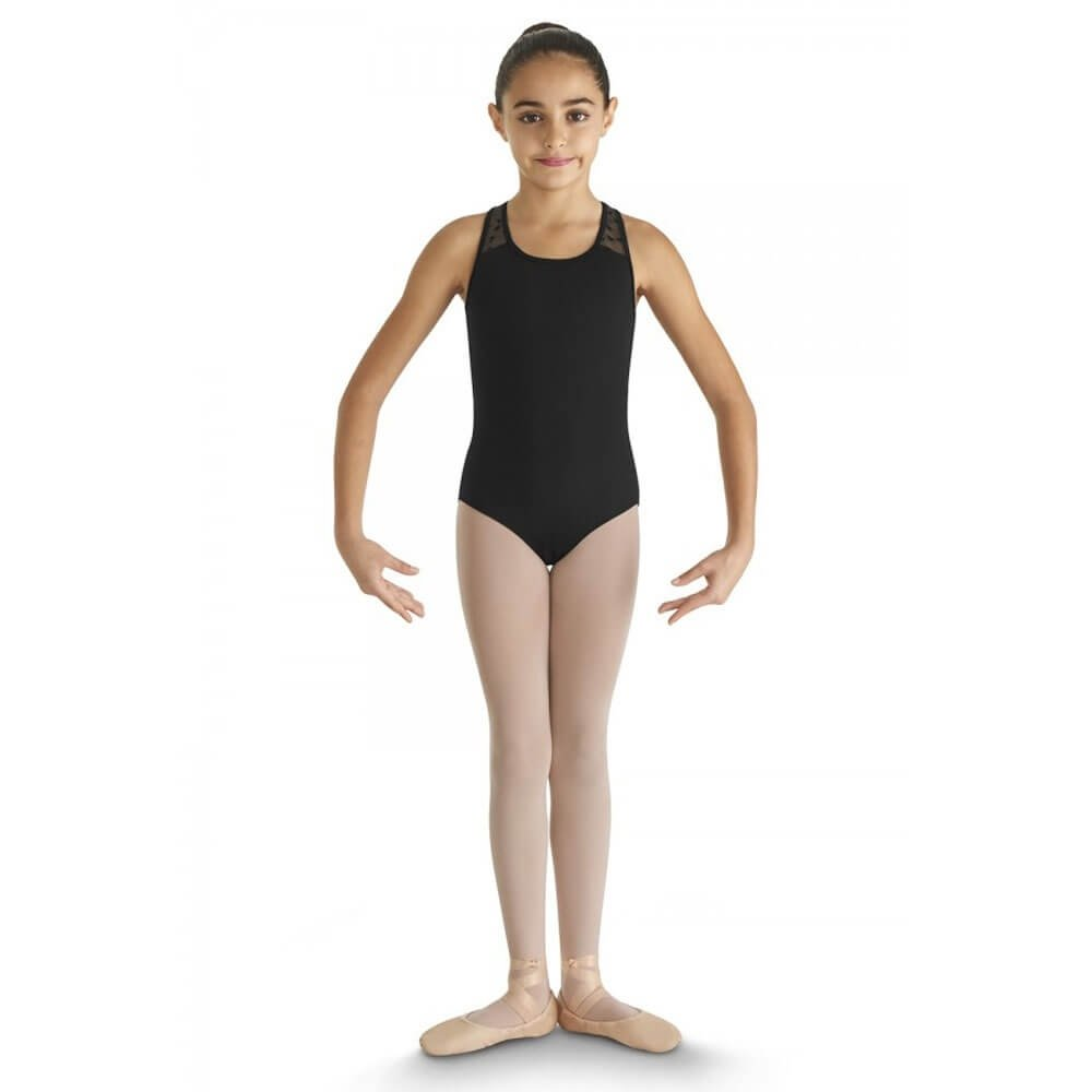 Bloch Child Heart Mesh Back Band Tank Leotard