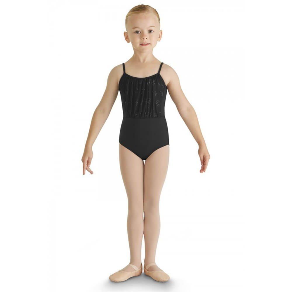 Bloch Child Glitter Bow Tulle Bust Twin Bow Back Camisole Leotard