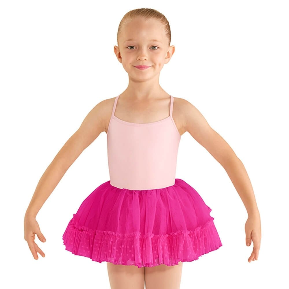 Bloch Child Heart Mesh Ruffle Hem Tutu