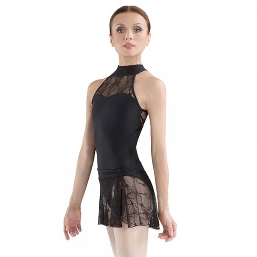 Bloch Ebo Lace Neck Halter Dance Leotard