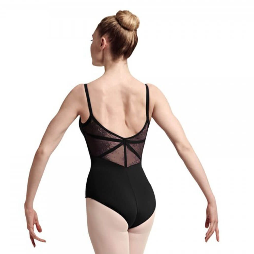 Bloch Floral Lace Wide Strap Cami Leotard