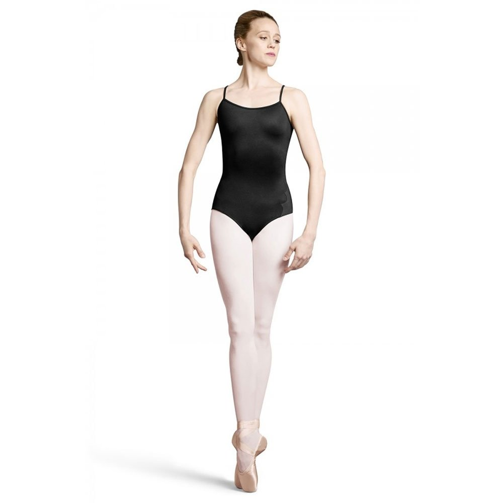 Bloch Laser Scallop With Spot Mesh Back Camisole Leotard