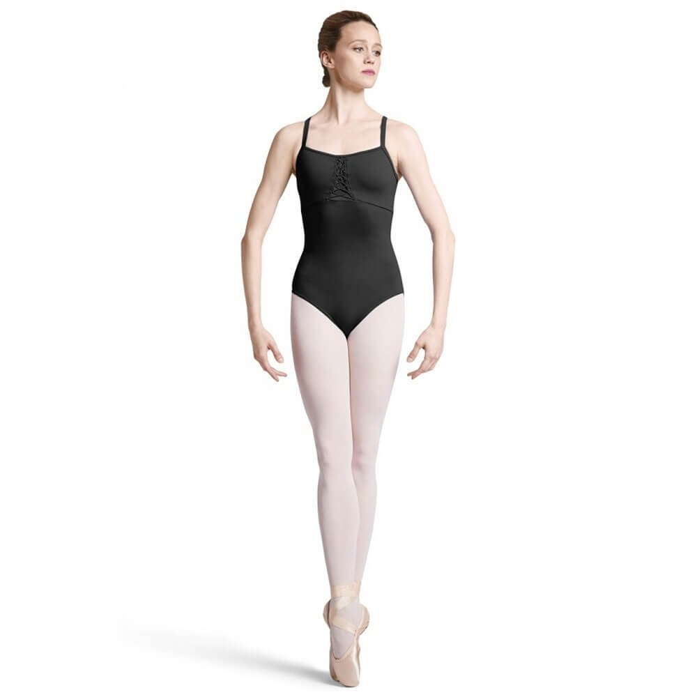 Bloch Adult Lace-Up Front Wide Strap X Back Camisole Leotard