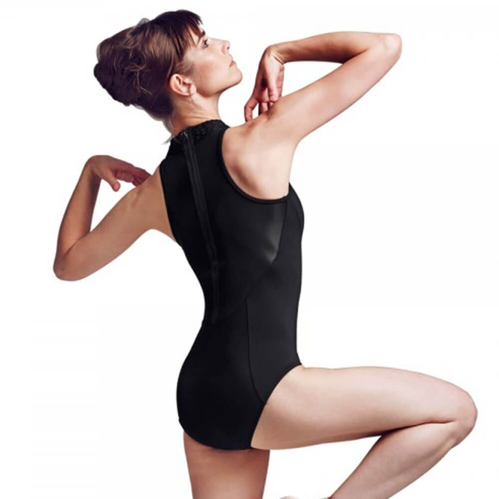 Bloch Plaited Neck Zip Back Leotard