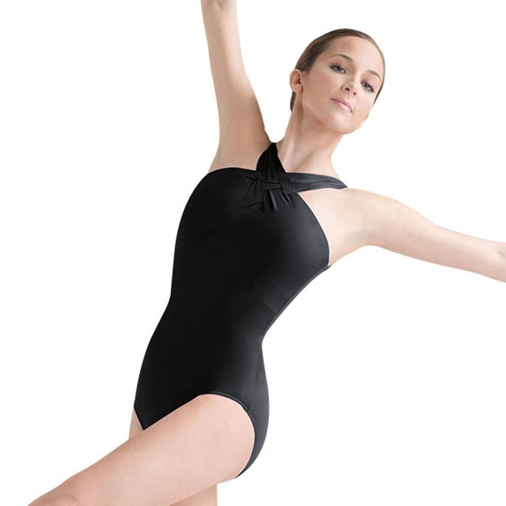 Bloch Weave Detail Wide-plaited Strap Leotard