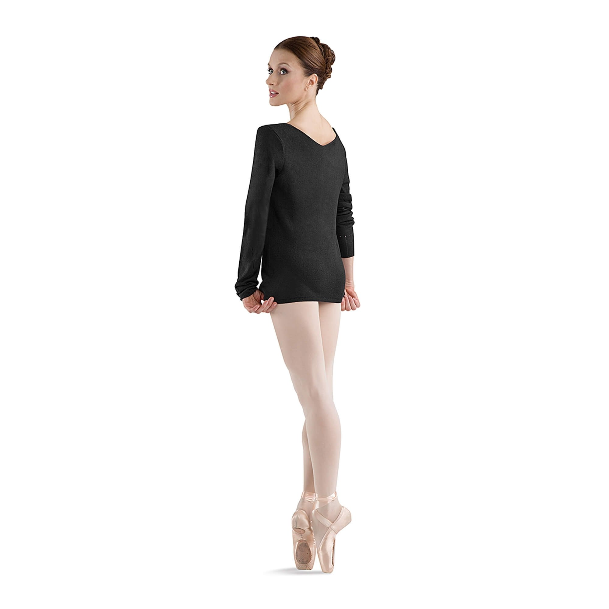 "Bloch Adult ""Celine\"" V neck Long Sleeve Top"