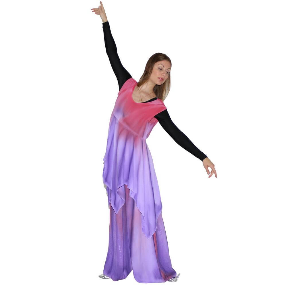 Watercolour Women's Worship Dance Handkerchief Dress