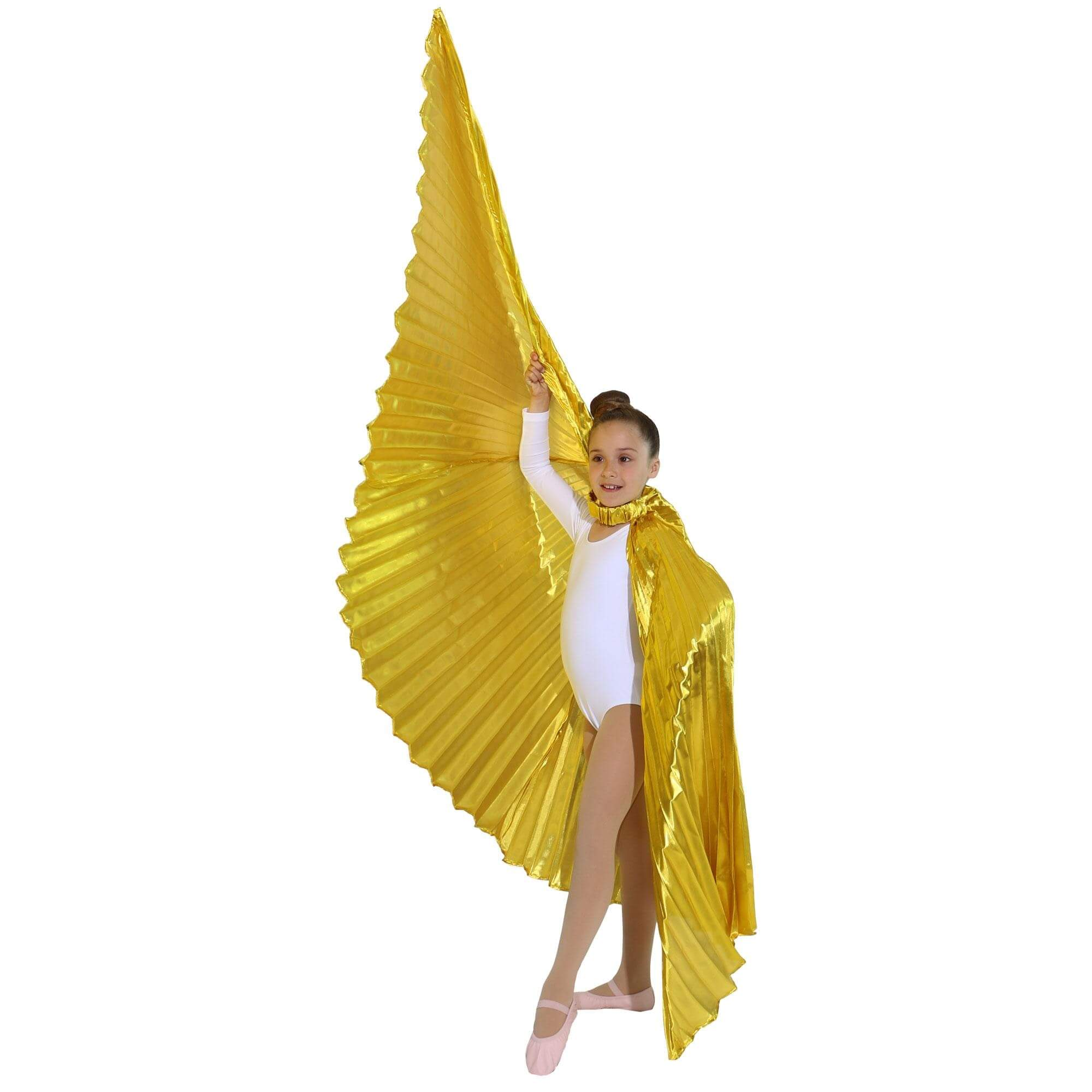 Solid Gold Worship Angel Wing - Click Image to Close