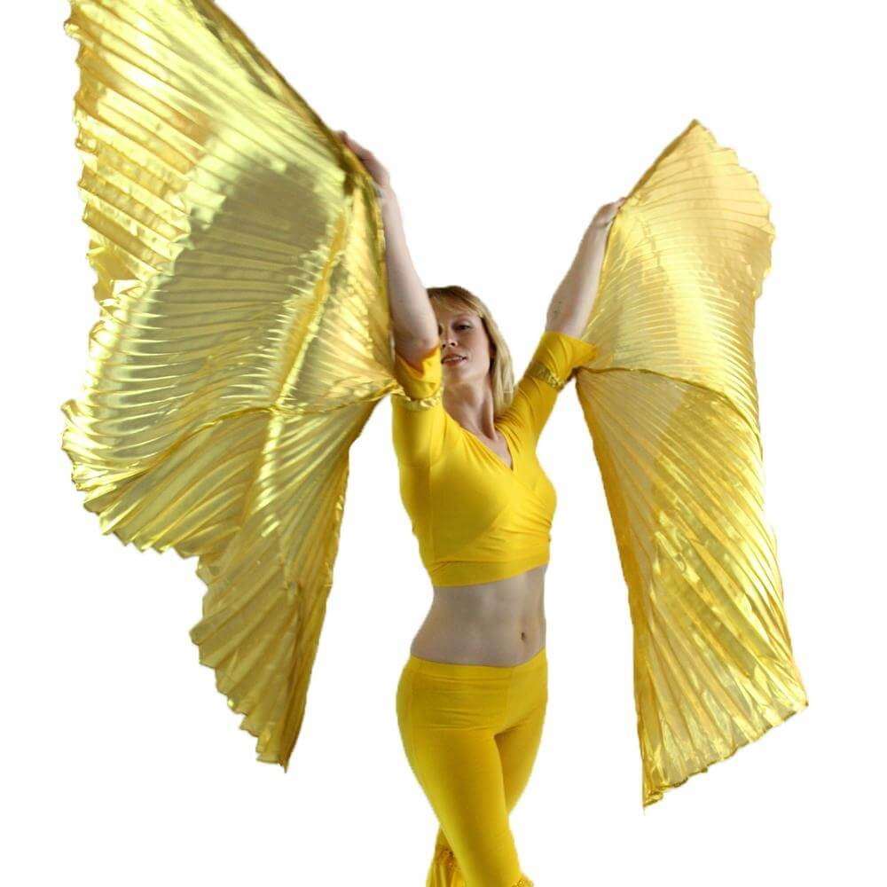 Gold Hand-held Worship Angel Wing