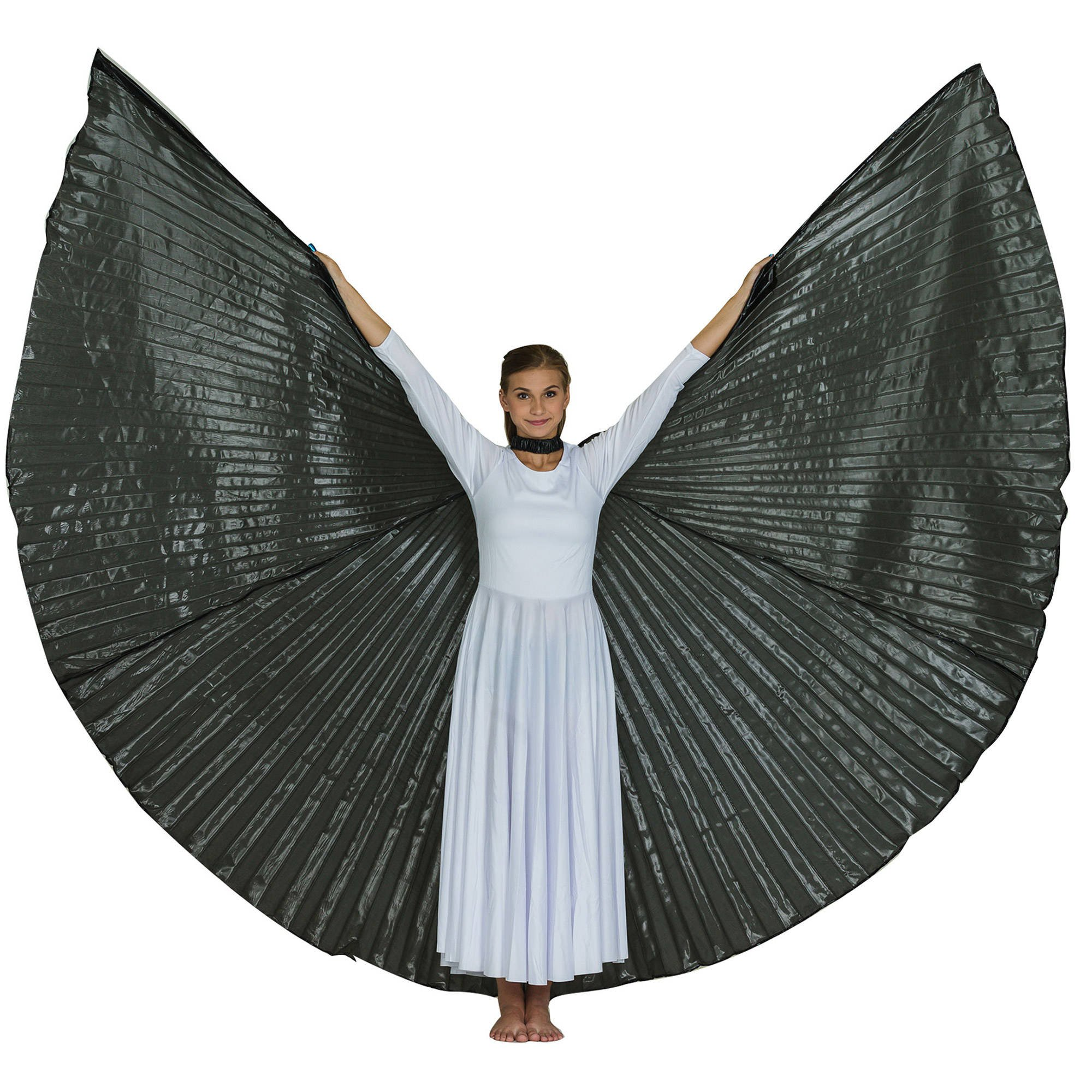 Solid Black Worship Angel Wing
