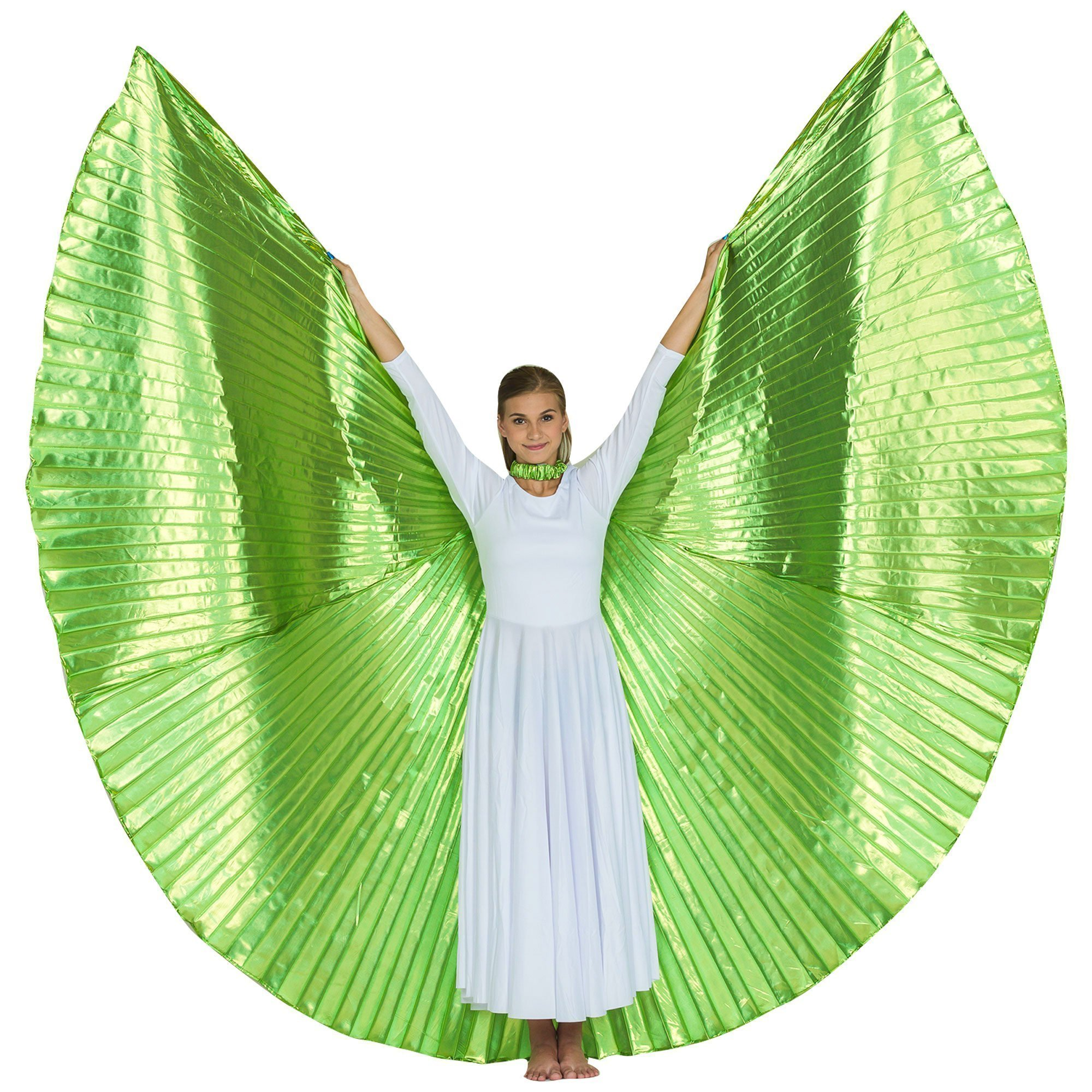Solid Lime-Green Worship Angel Wing