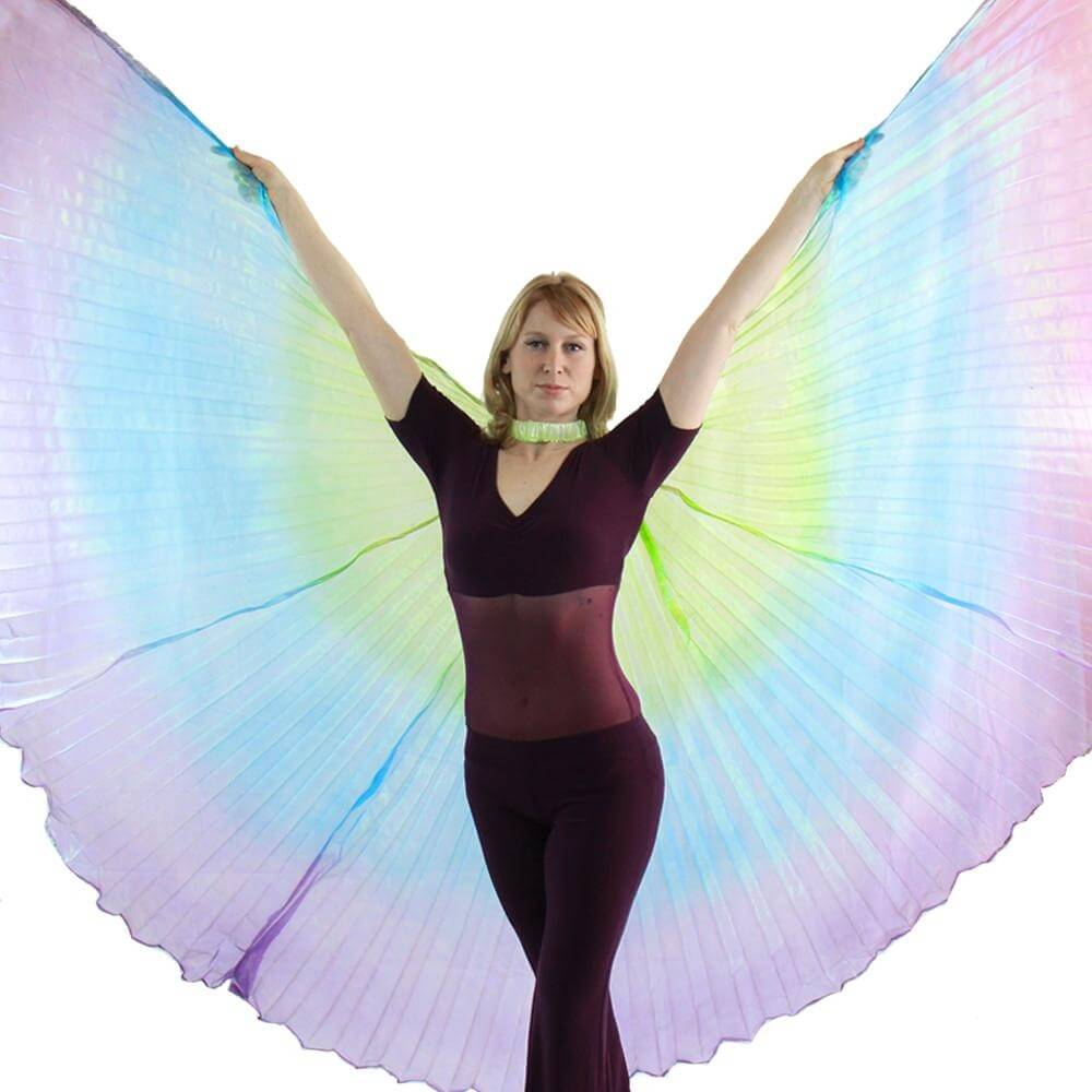 Green-Blue-Purple Gradient Color Worship Angel Wing
