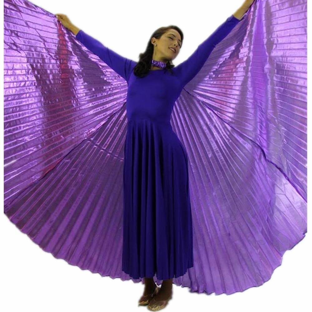 Solid Deep Purple Worship Angel Wing