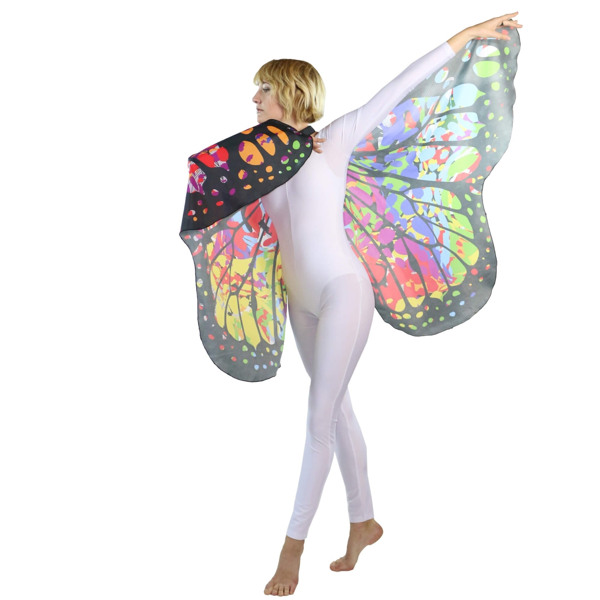 Danzcue Soft Colorful Butterfly Dance Wings - Click Image to Close
