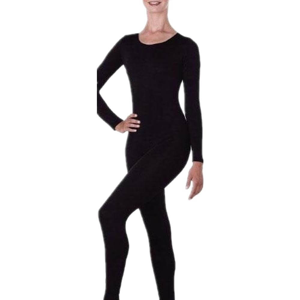 Microfiber Long Sleeve Unitard