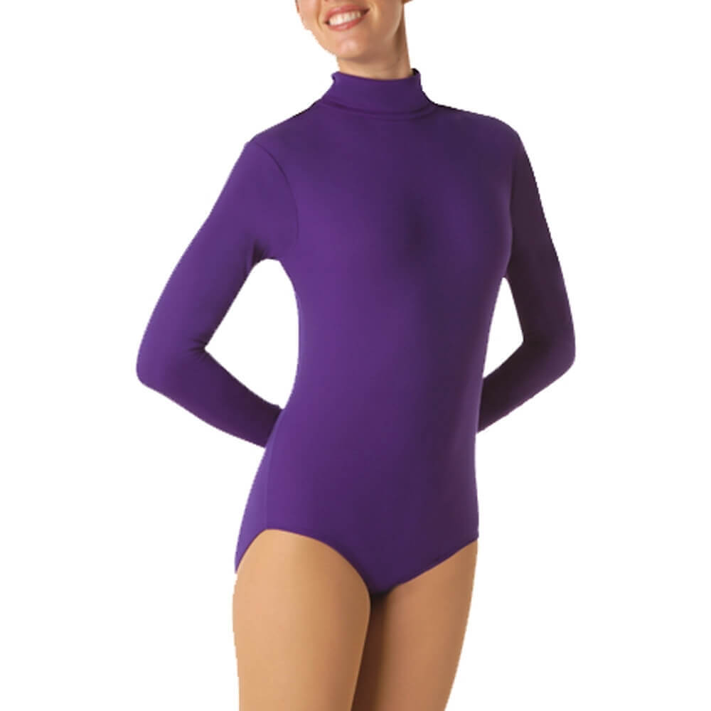 Body Wrappers Long Sleeve Turtleneck Leotard