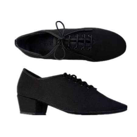 Body Wrappers Angelo Luzio Ladies Canvas Lace-Up Ballroom Shoes
