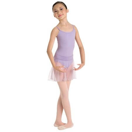Body Wrappers Medium Length Chiffon Tapered Pull-On Dance Skirt