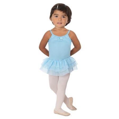 Body Wrappers Girls Camisole Tutu Leotard