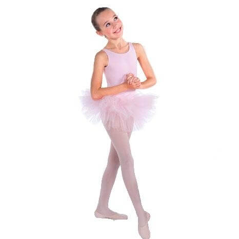 Bodywrappers Pancake Tutu with Full Stiff Diamond Net Tulle