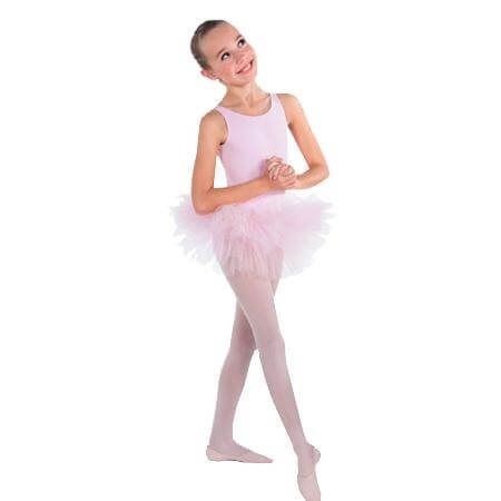 Body Wrappers Child Tutu With Full Stiff Diamond Net Tulle