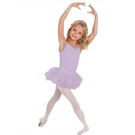 Body Wrappers Child Microfiber Camisole Tutu Leotard