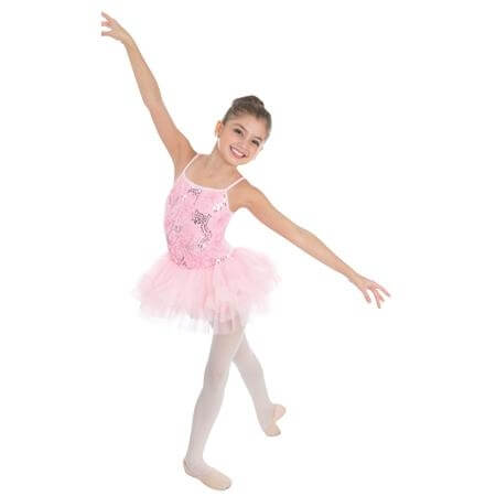Body Wrappers Child Sequin Roses Camisole Tutu Dress